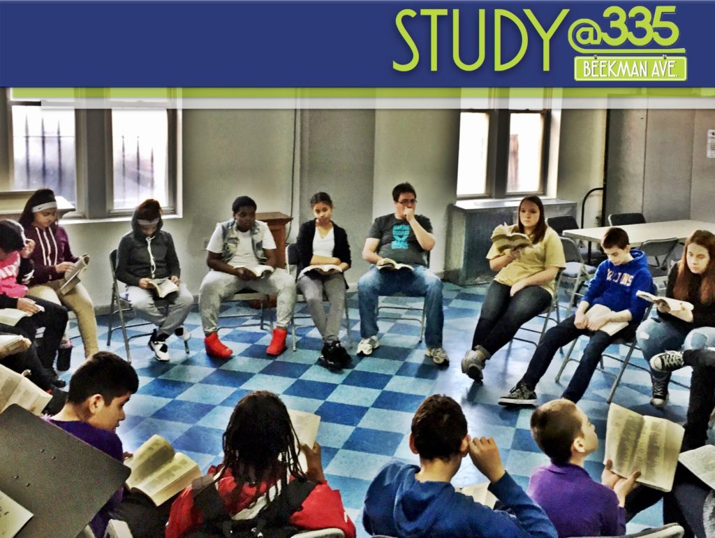 G.S.A.L.T. students studying the Bible together.