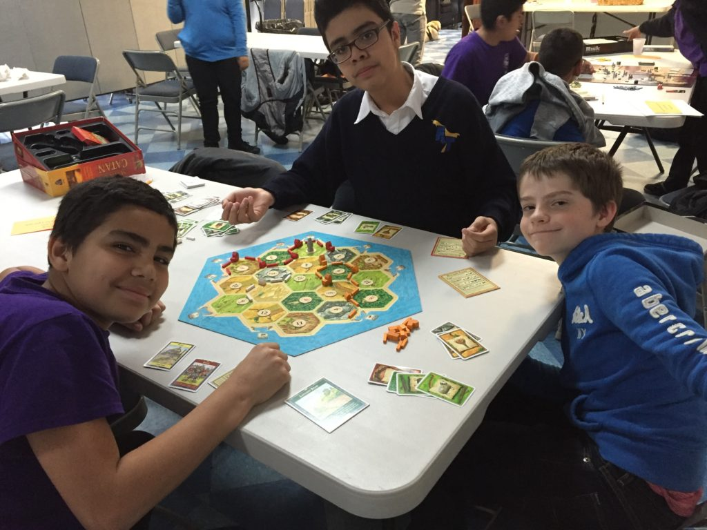 G.S.A.L.T. playing a board games.