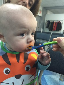 Keegan, the son of our children's director, loves to eat!