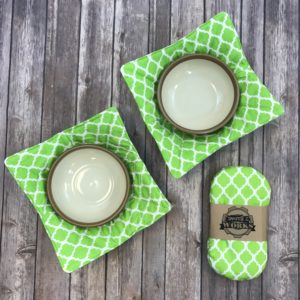 Mini Pot Holder and Bowl Holder Set (Lime Green)