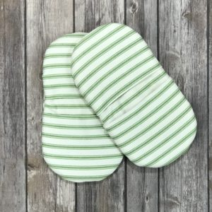 Mini Pot Holder Set- White with Green Stripes