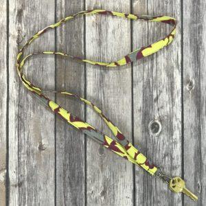 Lanyard-Yellow and Magenta Flower