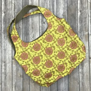 Squared Bottom Purse-Yellow, Pink