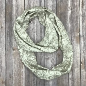 Infinity Scarf-Beige and Taupe Flower