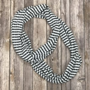 Infinity Scarf- Black and White Stripes