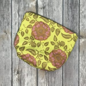 Make up/Essential Oil Bag – Yellow and Gold