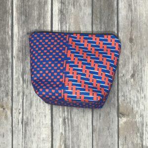 Make up/Essential Oil Bag -Blue and Orange