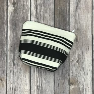 Make Up/Essential Oil Bag – Black and White