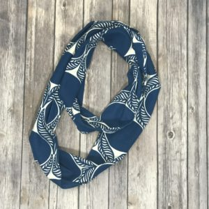 Infinity Scarf – Blue and White
