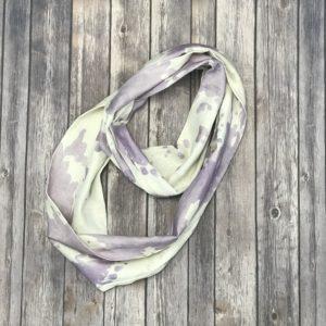 Infinity Scarf – Cotton, Purple, Beige