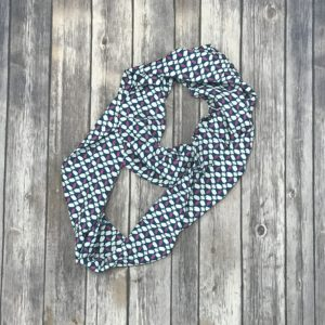 Infinity Scarf – Silky, Blue, Pink, White