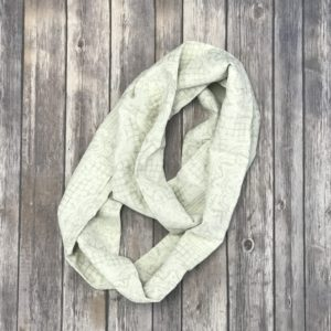 Infinity Scarf – Heavy Cotton, Beige, White