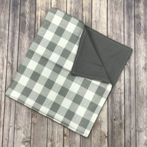 Reversible Table Runner-Grey and White ( 75×17)