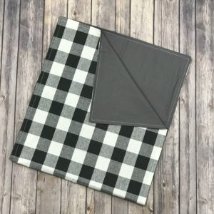 Reversible Table Runner-Charcoal and White (75×17)