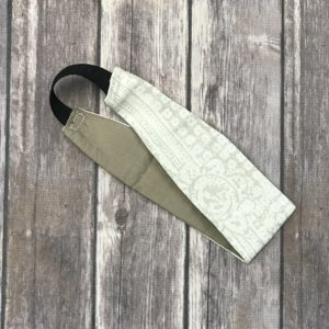 Reversible Headband-Beige and White
