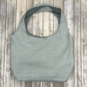 Square Bottom Bag-Light Grey and Dark Grey