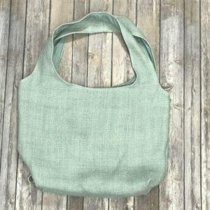 Square Bottom Bag-Sea Foam Green