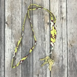 Lanyard-Yellow, White and Pink