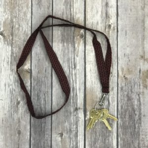 Lanyard-Black and Burgundy
