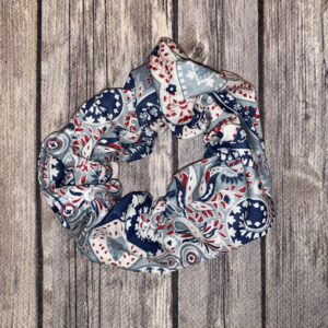 Scrunchie – Blue, Red and White