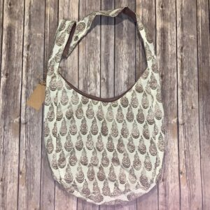 Sling Bag – Brown, Beige and Mauve Print