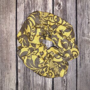 Scrunchie – Yellow and Grey