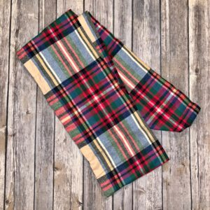 Infinity Scarf – Red, Beige, Blue and Green Plaid
